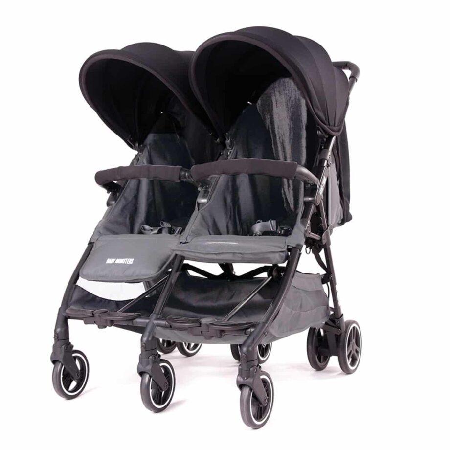 Baby Monsters Kuki Twin Stroller – Black