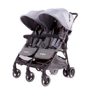Baby Monsters Kuki Twin Stroller – Heather Grey