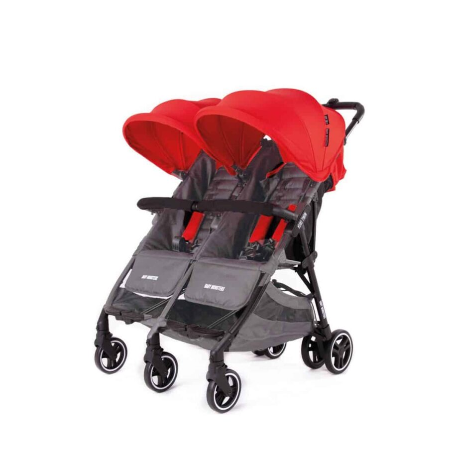 Baby Monsters Kuki Twin Stroller – Red