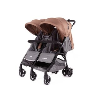Baby Monsters Kuki Twin Stroller – Taupe
