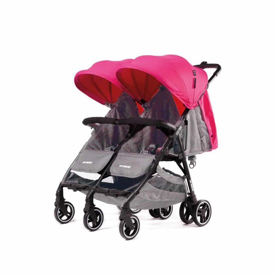 Baby Monsters Kuki Twin Stroller – fuchshia