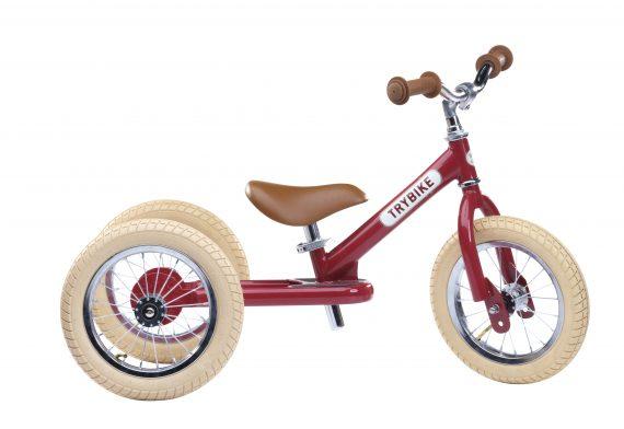 Trybike steel bike, vintage red TBS-2-RED-VIN 8719189161670 TBS-100-TKV 8719189161687 (1)