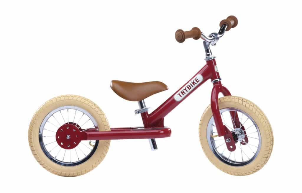 Trybike steel bike, vintage red TBS-2-RED-VIN 8719189161670 TBS-100-TKV 8719189161687