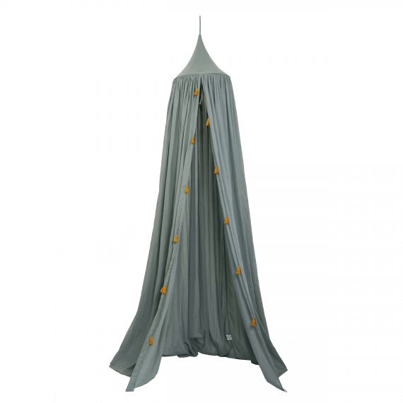 Roommate Canopy with tassels – sea grey(1003138)