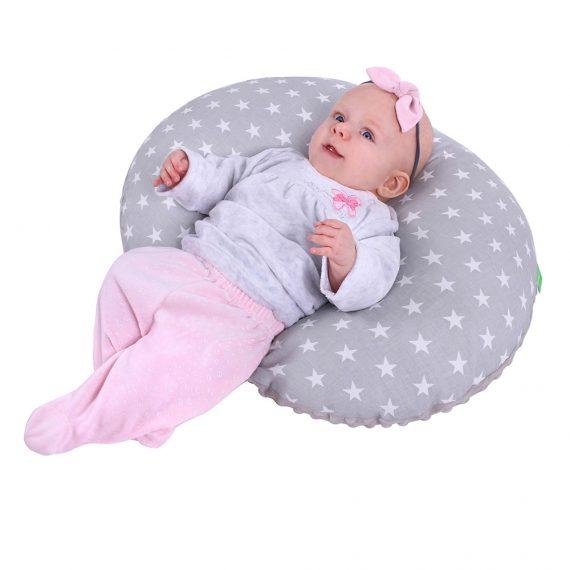Jastuk za dojenje zvijezde bijele_4