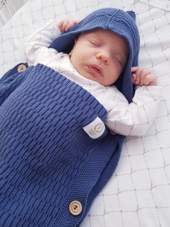 Vreća za spavanje bebe - plava 1