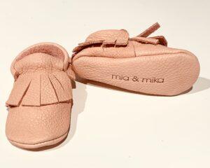 Cipelice za bebe mokasinke roze 2