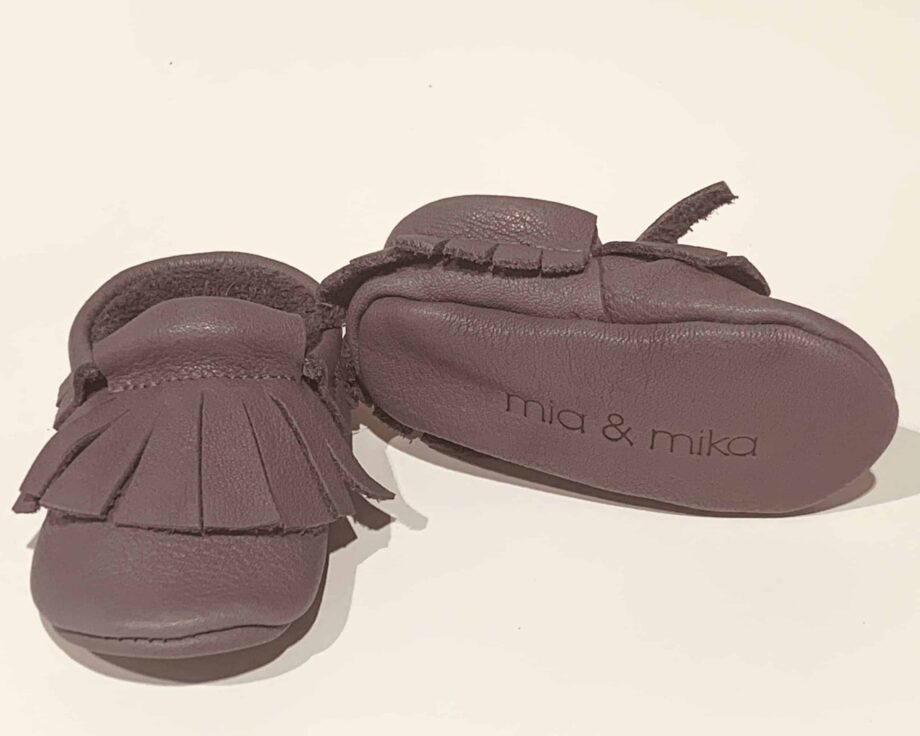 Cipelice za bebe mokasinke sive 2