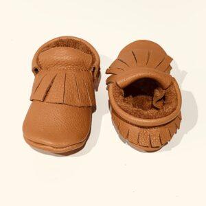 Cipelice za bebe mokasinke smeđe 1