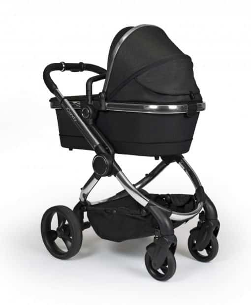 kolica za bebe iCandy Peach Black_Twill_on_Chrome