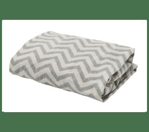 prijenosna kolijevka CoZee posteljina cik-cak siva