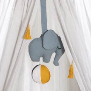 Mobil za bebe – slonić plavi 2