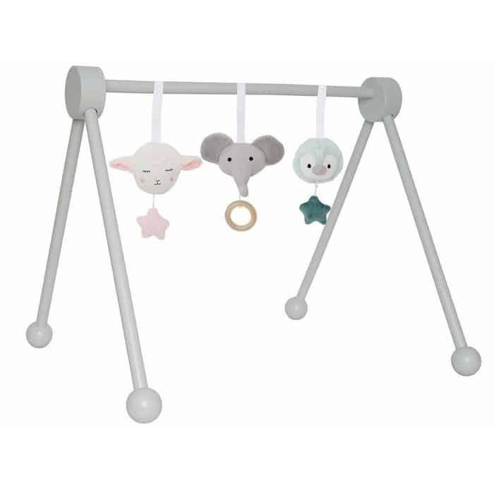 igračke za bebe - baby gym sivi s igračkom